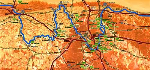 Main Fluss Karte.Der Main